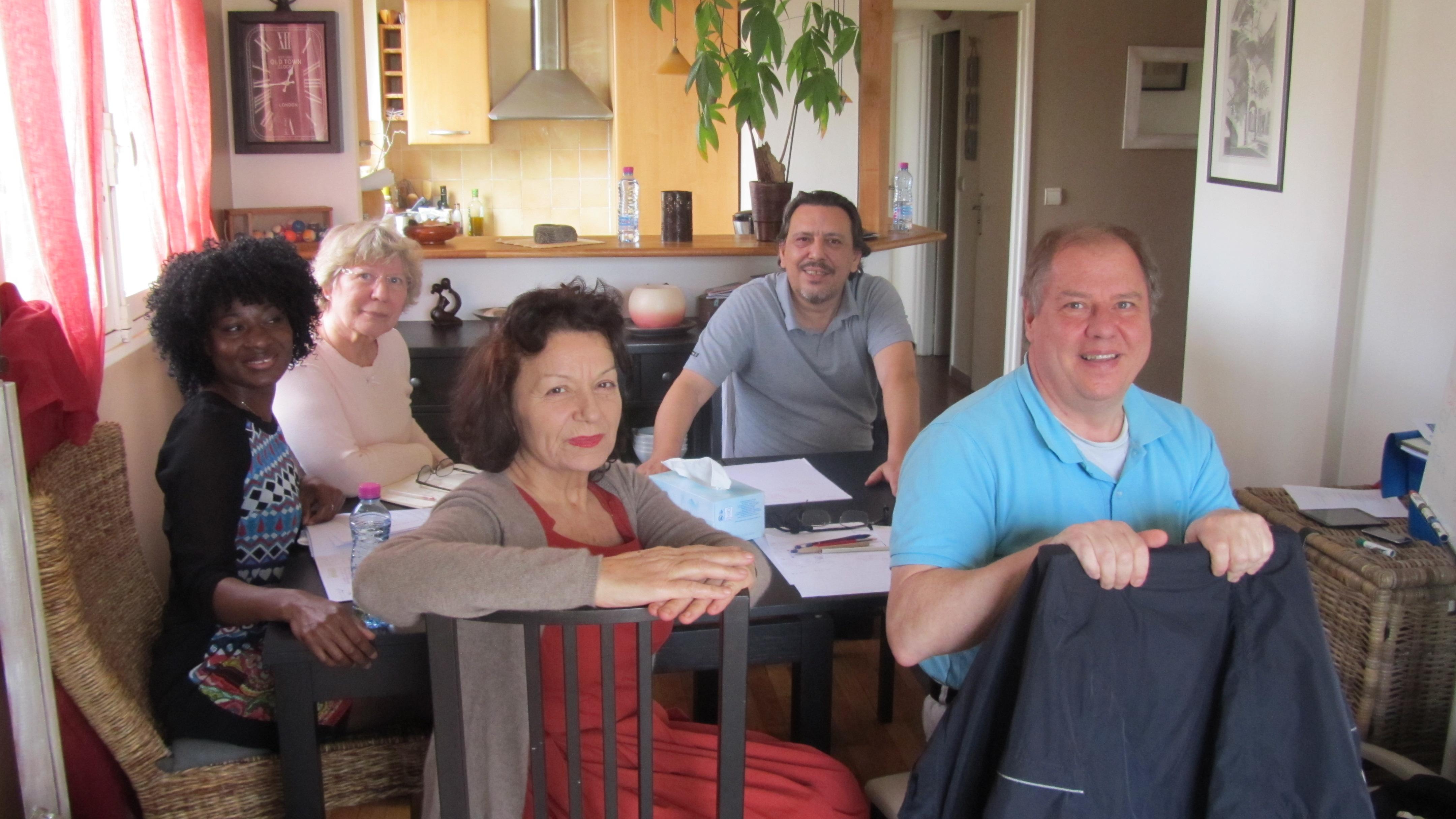 Marie, Pierre, Annie, Mireille, Jean-Guy